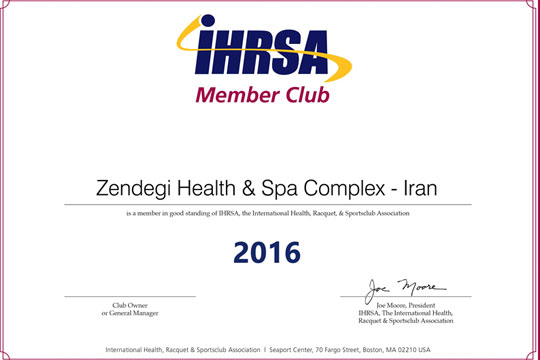 Member of IHRSA (the International Health, Racquet and Sportsclub Association) – till 2016/17