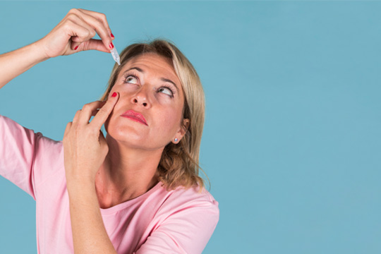 Using eye drops for Glaucoma treatment